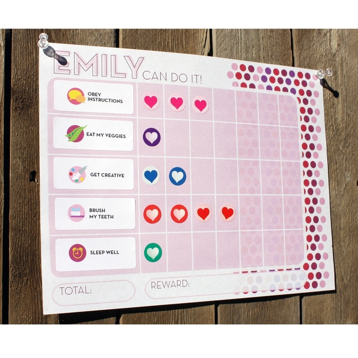 Children's Reward Chart Printable
