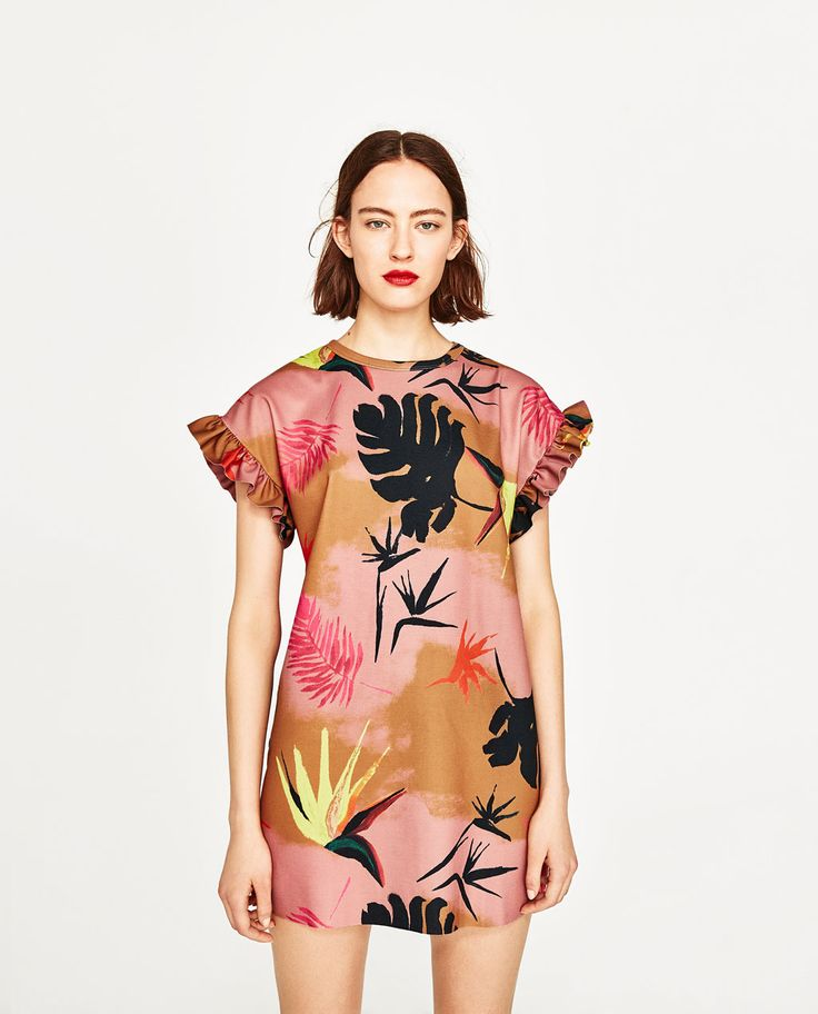 Image 2 of TROPICAL PRINT DRESS from Zara