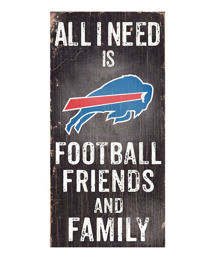 Look at this #zulilyfind! Buffalo Bills 'Football, Family & Friends' Wall Sign by Fan Creations #zulilyfinds