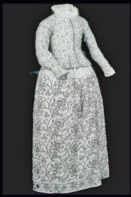 Skirt. Production Date:1621-1640    ID no:59.77b  Skirt and jacket both from the Museum of London