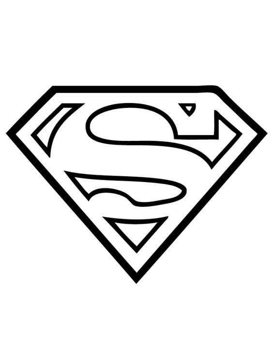 Superman Logo Coloring Page Embroidery Pinterest