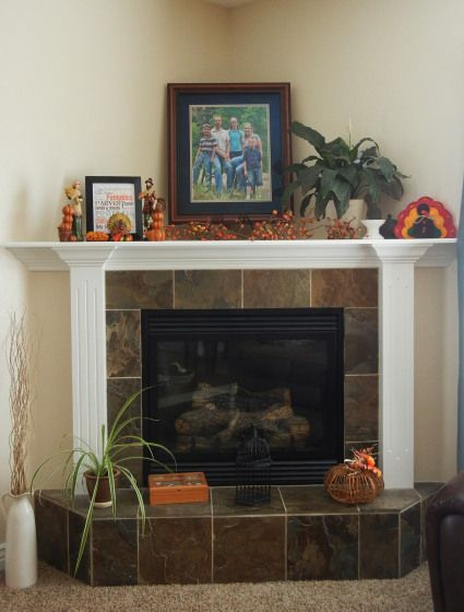 How to and How NOT to Decorate a Corner Fireplace Mantel - Kylie M Interiors