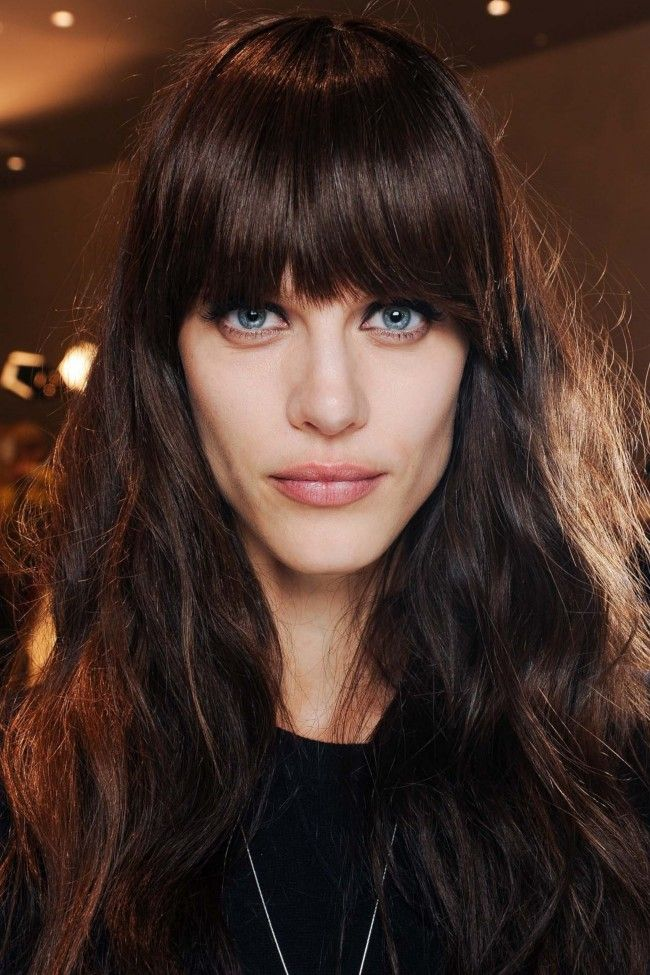 Dark mahogany brown with bangs at Emilio Pucci. | 23 not-so-boring shades of brunette gallery - Vogue Australia