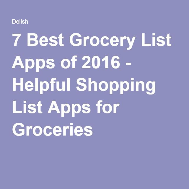 7 Best Grocery List Apps of 2016 - Helpful Shopping List Apps for Groceries