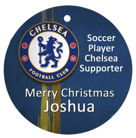 Personalised Christmas Tree Ornament, Soccer Chelsea