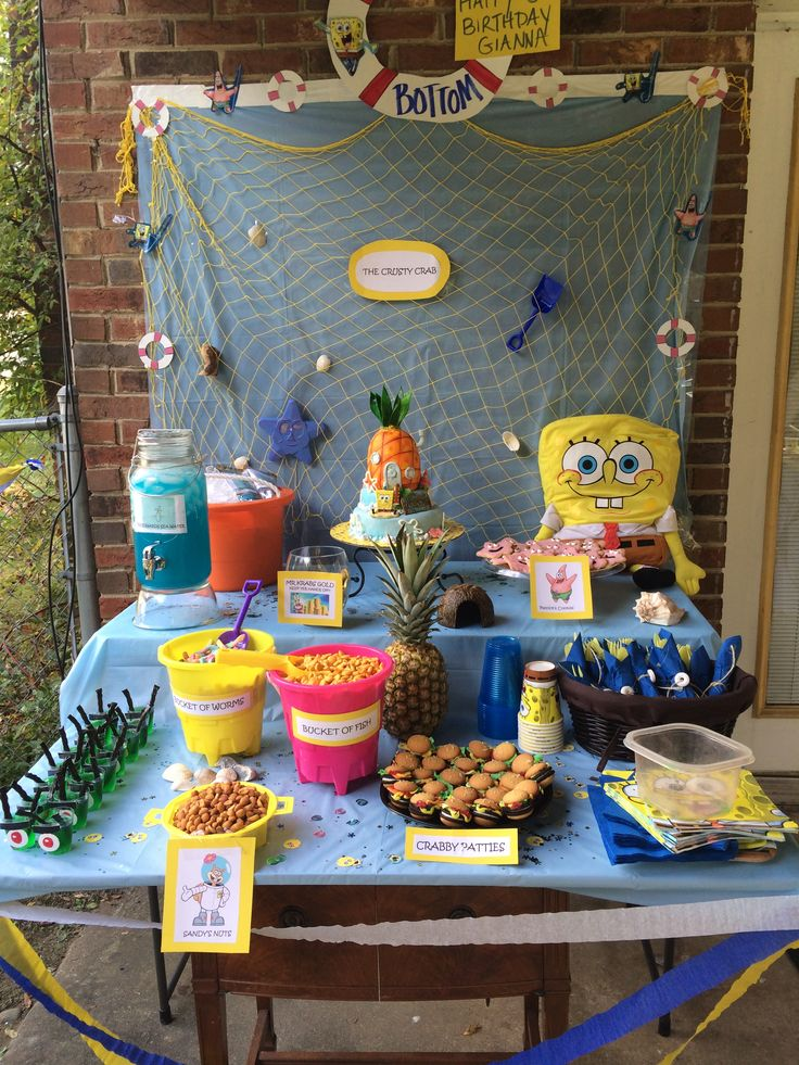 This is my daugher's 6 year old Sponge Bob Themed birthday party...inspired by Pinterest!  I am exhausted but she and her friends loved it.
