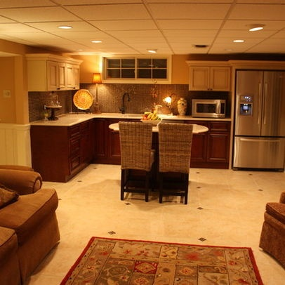 ideas basement - Basement Kitchen Ideas Small