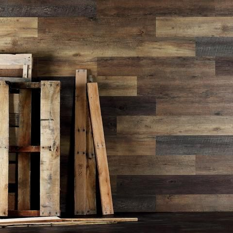 Salvaged Pallet Wood Wall Planks