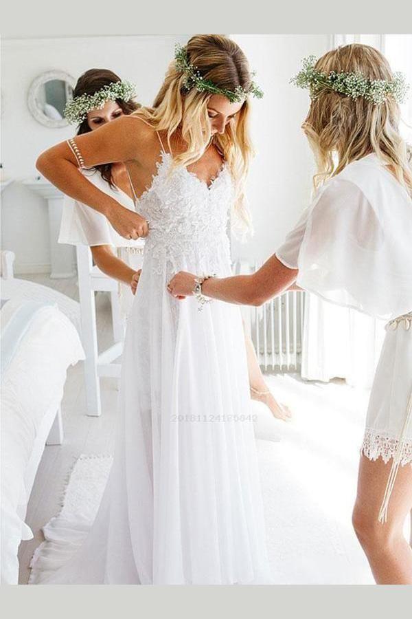 Outlet Popular Wedding Dresses For Cheap, Wedding Dresses Unique, Backless Wedding Dresses, Sexy Wedding Dresses