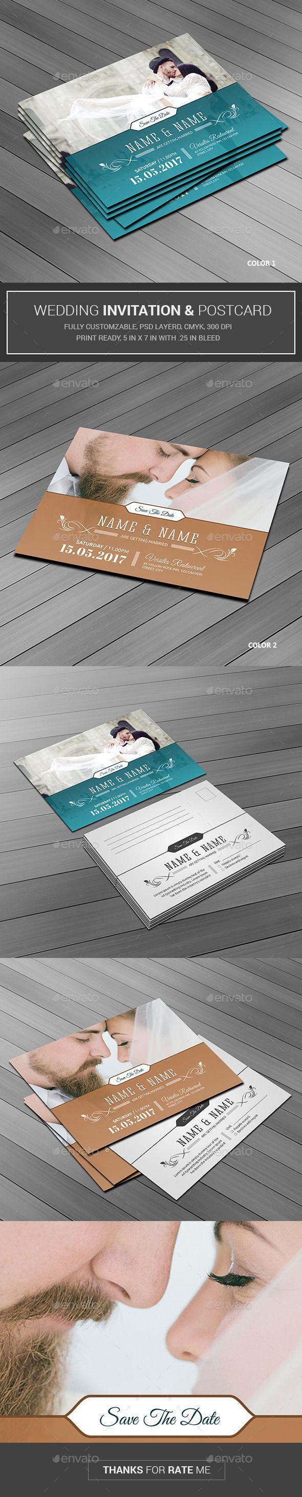Wedding Invitation - Weddings Cards & Invites Instant Download http://graphicriver.net/item/wedding-invitation/12110678?ref=themedevisers