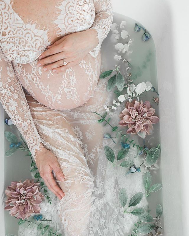 Floral milk bath with just a dollop of milk. ❤️
