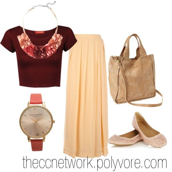 """""""Maxi Skirt Outfit 10"""" by theccnetwork on Polyvore"""