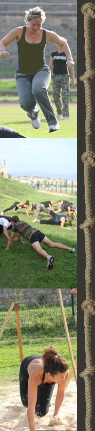 Boot Camp France Stage Paris - Make exercises and have fun at the same time.