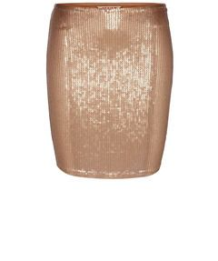 Goldener Pailletten Rock von Review  #metallic #fashion #gold #skirts