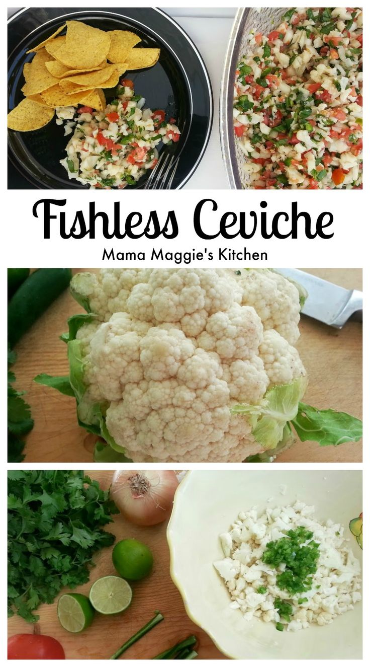 Fishless Ceviche - you won't even know there isn't any fish in this vegetarian dish- by Mama Maggie's Kitchen