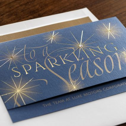 Sparkle eInvite Business Holiday Cards