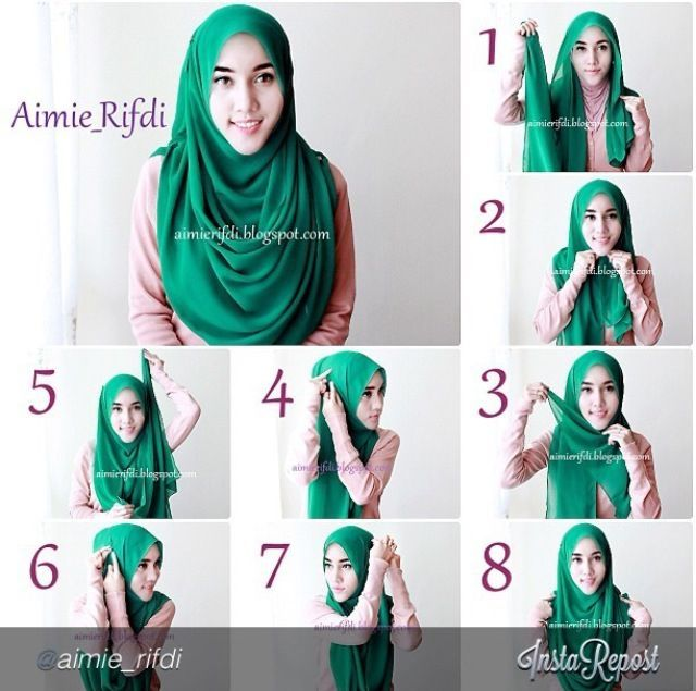 hijab style...i like that it covers the chest ALOT