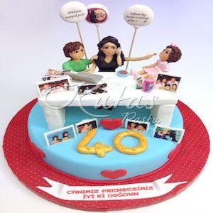 40 Yaş Anne Doğum Günü Pastası