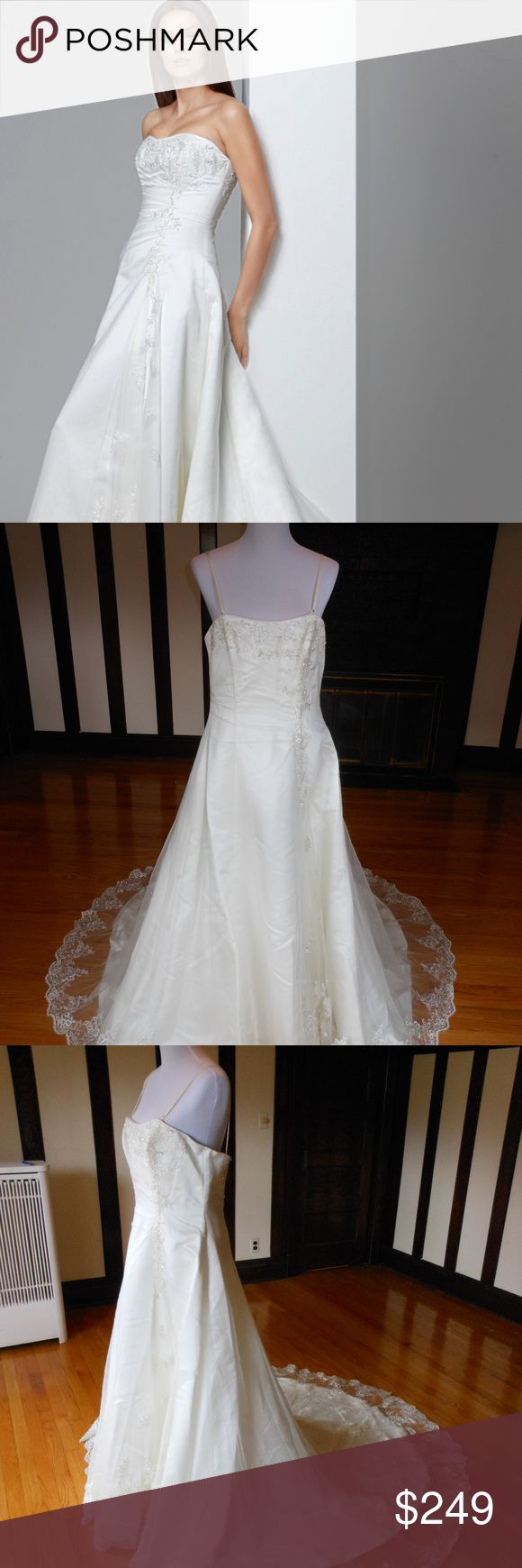 """Rosetta Nicolini Wedding Dress RMN0507 This is an Authentic ROSETTA NICOLINI Bridal Wedding Dress Gown. The style number of the dress is RNM0507. It has a gorgeous A line style with a fabulous long train. This dress is brand new in great condition with the original label and tags. It was never worn.  Size: 18 Bust: 40""""-42"""" Waist: 34"""" Hips: 48""""  Color: Ivory Rosetta Nicolini Dresses Wedding"""