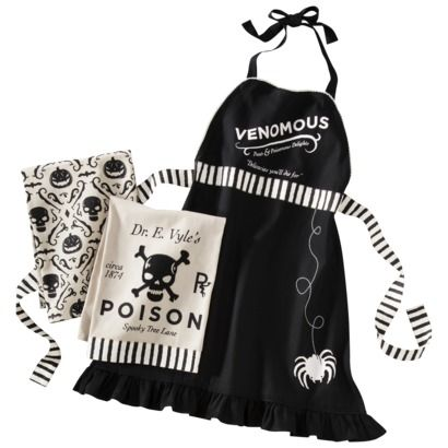 Your Dark Palace: Poison Kitchen Towel and Apron Set from Target.com. $14.99