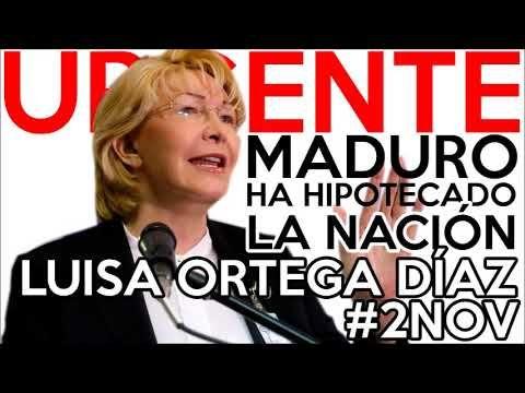 URGENTE FISCAL ORTEGA ENVÍA DURA ADVERTENCIA AL MUNDO NOV 2