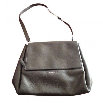 """GIVENCHY """"PANDORA PURE"""" medium in black grained leather"""