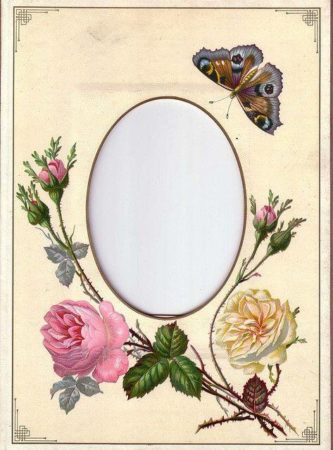Album Page from Victorian Photo Album