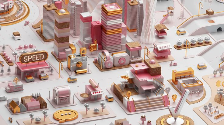 We were called by the prestigious agency Wieden + Kennedy Portland to develop a four folding vertical pages.They had the necessity to create an entire digital city as a metaphor to show why Verizon networkis better at capacity, coverage, speed, and r…