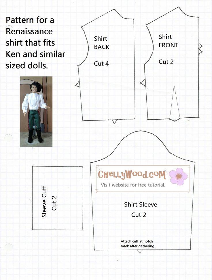 Mattel Ken Clothes Printable Patterns - Patterns Kid
