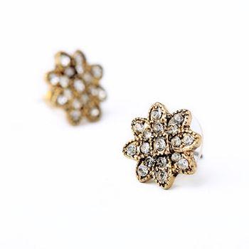2014 New Brand Fashion Earrings Crystals Brass Leaves Earrings