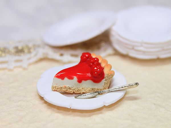 Piece of Raspberry Cheesecake Tutorial for Fimo or Polymer Clay