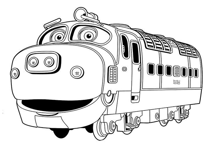 Chuggington Coloring Pages Brewster For Kids Printable