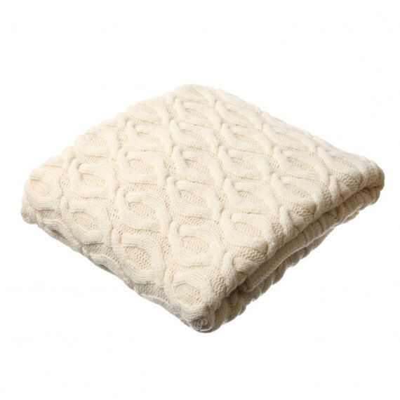 merino wool blanket cable knit blanket soft knit merino blanket white wool blanket