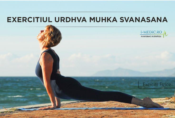 Avantajele Posturii Urdhva Muhka Svanasana - Fortifiaza coloana vertebrala, mainile, incheieturile, umerii si abdomenul. - Creste gradul de flexibilitate al coloanei vertebrale, imbunatatind fluxul de sange la acest nivel. - Stimuleaza gradul de functionare al nervilor si muschilor de la nivelul spatelui. - Tonifiaza fesele. http://www.i-medic.ro/exercitii/yoga/exercitiul-urdhva-muhka-svanasana