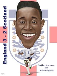 Danny Welbeck scored the all important second goal for England vs Scotland!