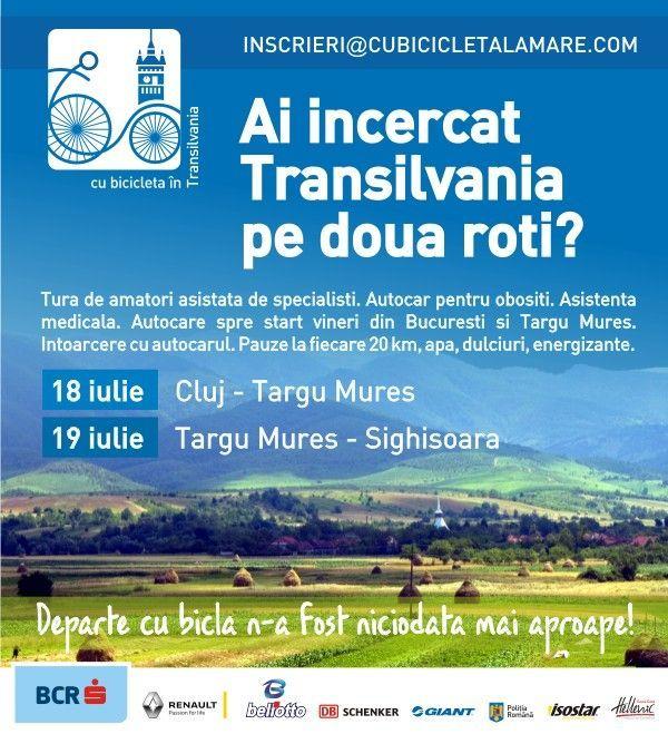 Cu bicicleta in Transilvania - 18-19 Iulie 2015