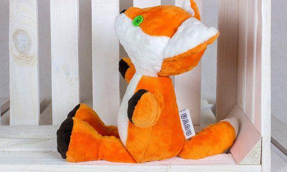 Plush Fox Richard  Artist Fox Plush Stuffed Animal by NuvaArt