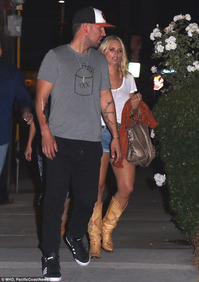 Country cuties: Miranda Lambert, 32, stepped out with fellow singer Sam Hunt, 31, in Hollywood on Wednesday night