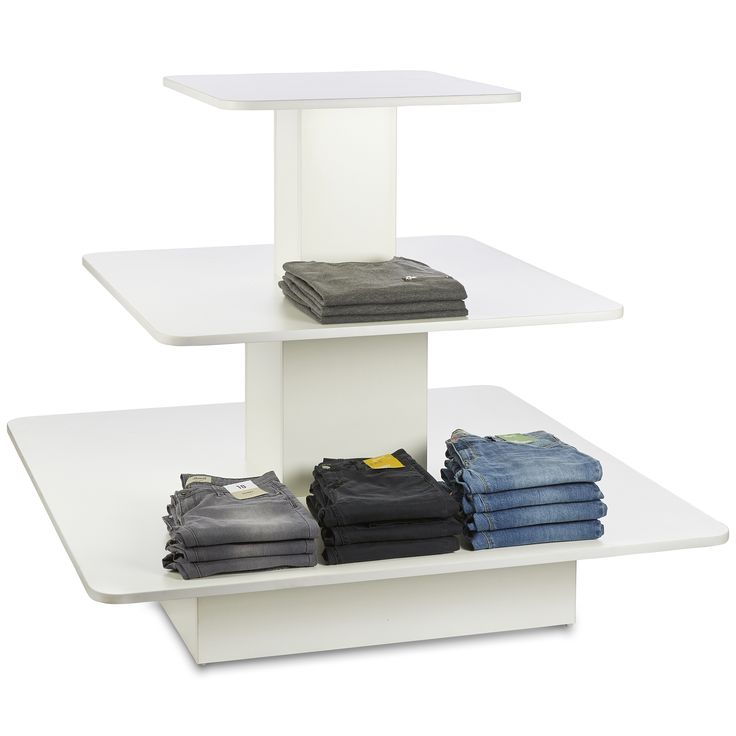 Fantastic range of retail gondolas and counters in white - also available in black, maple and beech