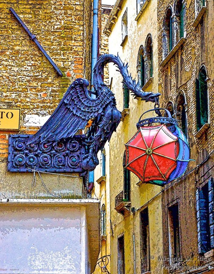 Umbrella Shop Sign, Venice by M-M-R, via 500px, over Max Mara Shop at San Bartolomeo