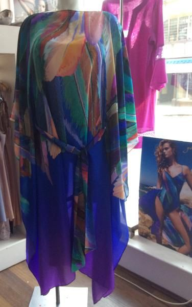 Gottex ~ Macaw Silk Kaftan