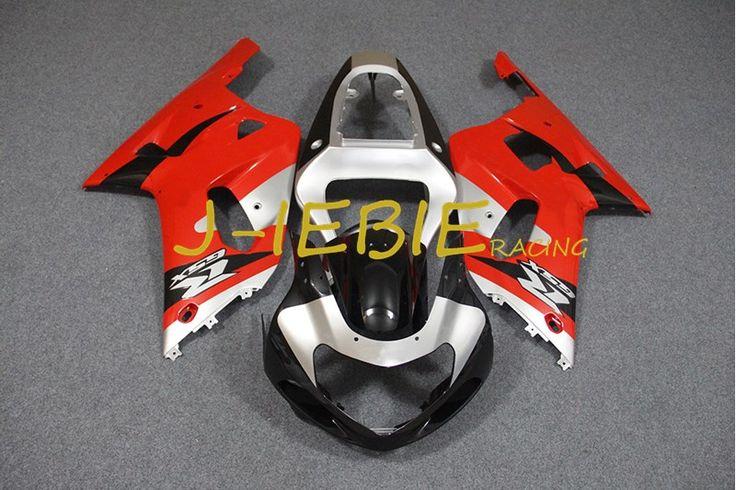 Black red silver Injection Fairing Body Work Frame Kit for SUZUKI GSXR 600/750 GSXR600 GSXR750 2001 2002 2003