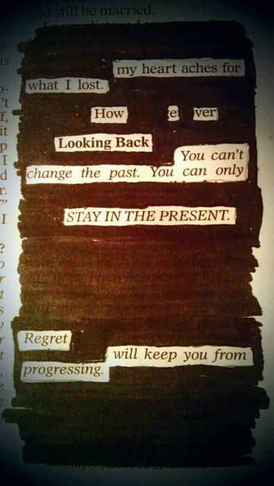 Blackout poetry by Kevin Harrell.