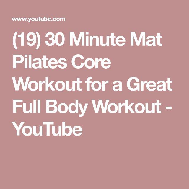 Pilates Mat Class Youtube: Best 25+ Pilates Mat Exercises Ideas On Pinterest