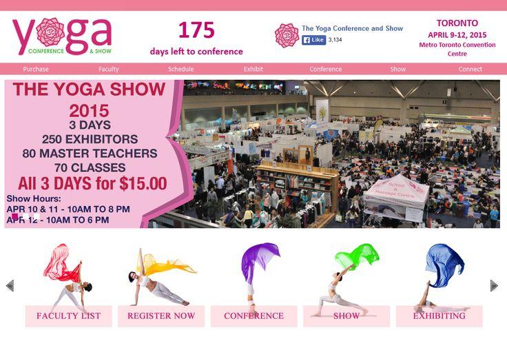 We will be at next years Toronto Yoga Show!