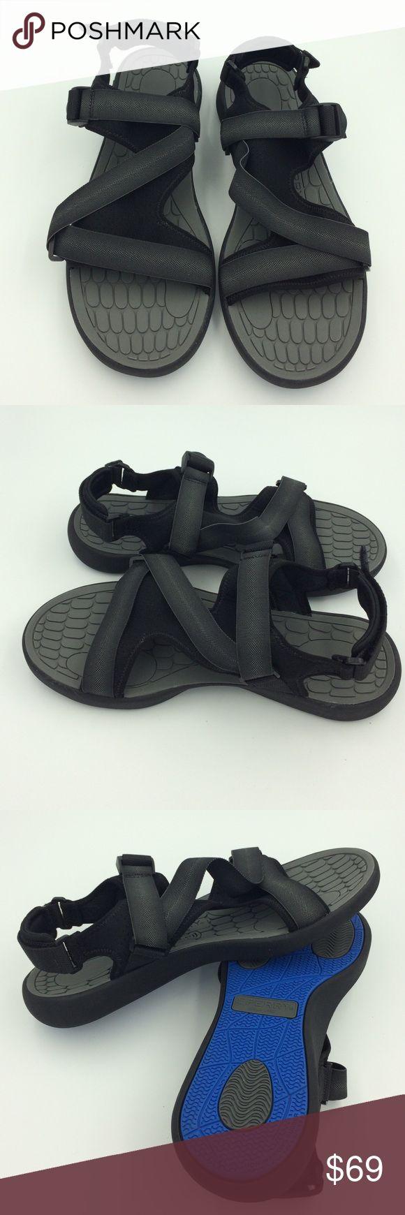 Black sandals size 11 -  Black Straps Sperry Sandal Size 11 12 13 B3 New Never Worn Black