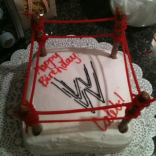 How to make a wwe ring birthday cake