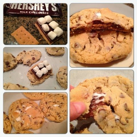 Britt's Apron: S'mores Stuffed Chocolate Chip Cookies