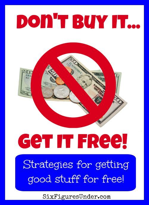 I joke that free is my favorite price, but seriously, there are lots of great things that you can get for free. Here are some of the places I look and the strategies I use to get things free instead of buying them.