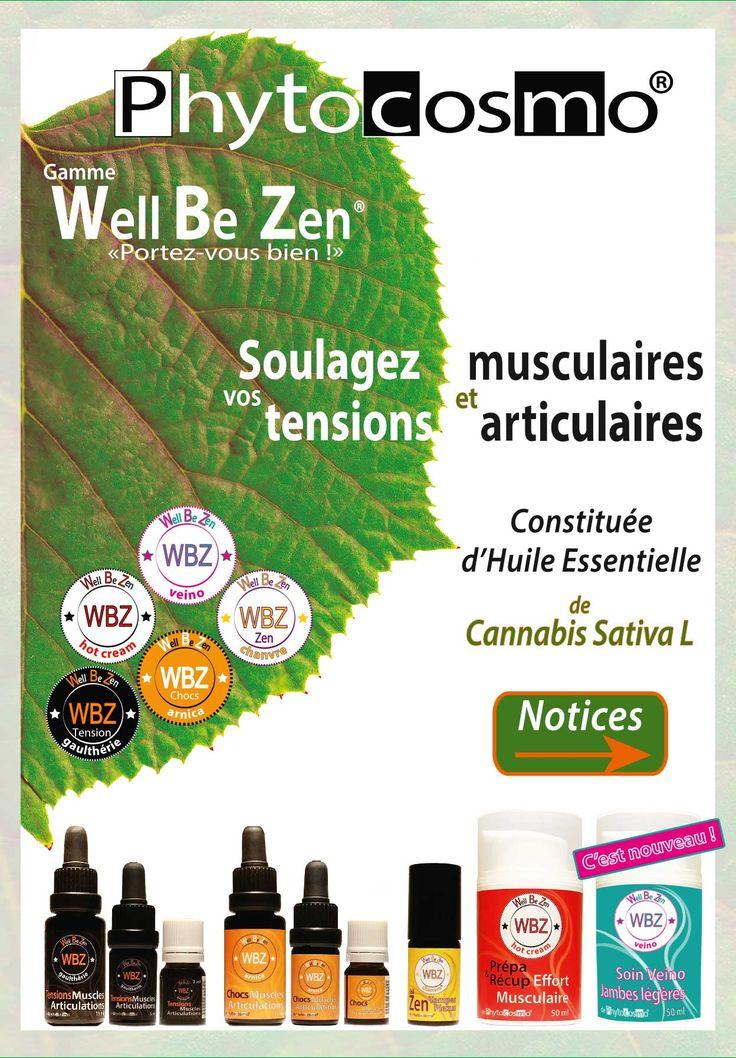 Well Be Zen est une gamme originale composée de 4 actifs dont de l'huile essentielle de Cannabis Sativa L reconnue pour ses propriétés anti-inflammatoires et relaxantes.  Usage externe uniquement. Gamme produite en France.
